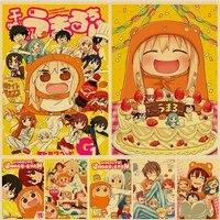 Affiches de dessin anime WTQ Himouto  Umaru-chan     toile de peinture  decor mural retro  affiche murale  image dart pour decor de salon  decoration de maison