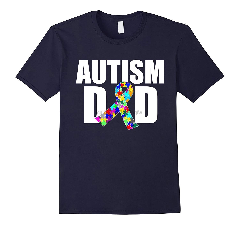 Camiseta para hombre autismo papá espectro concientización cinta camiseta-RT mujeres camisetas