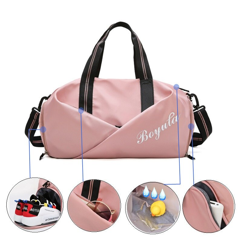 Women Gym Bag Sports Fitness Handbag Training Bags For Shoes Travel Female Dry And Wet Yoga Mat Sac De  Mochila Sporttas