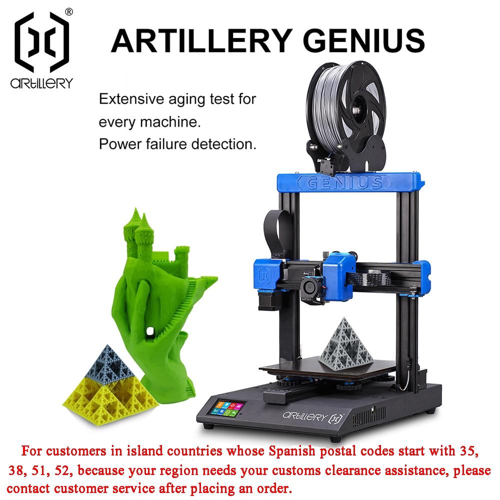 Artillery 3D Printer Kit GENIUS 220X220X250mm Size Desktop level High Precision Dual Zaxis TFT Screen