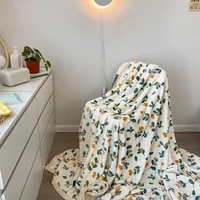 christmas gift velvet home decor blanket multi purpose soft bedspread blanket for adults children travel camping warm blanket