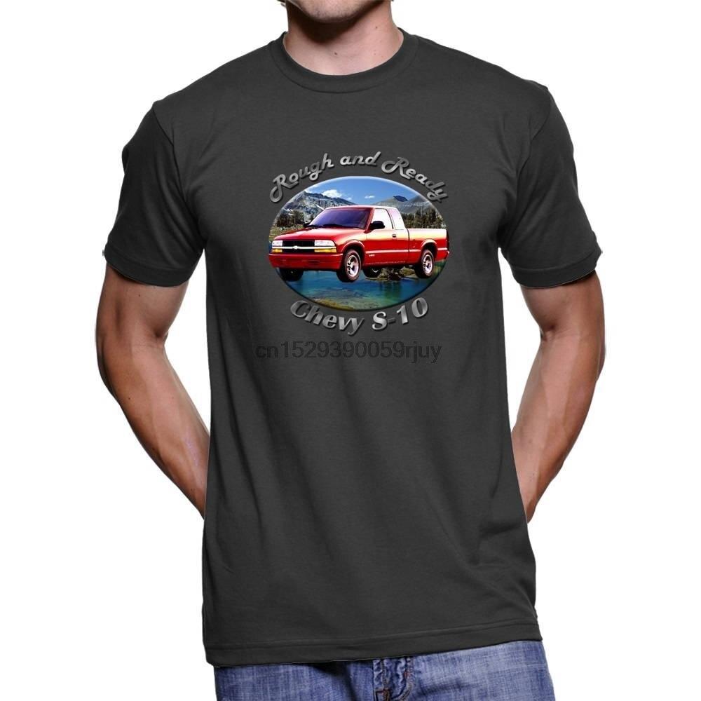 Camiseta oscura Chevy S 10 áspera y lista para hombres