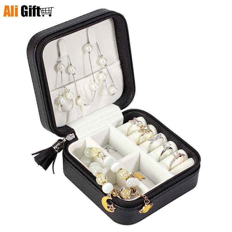 صندوق مجوهرات محمول ، صندوق تخزين مجوهرات ، منظم مجوهرات متعدد الوظائف ، حقيبة مكياج ، هدية