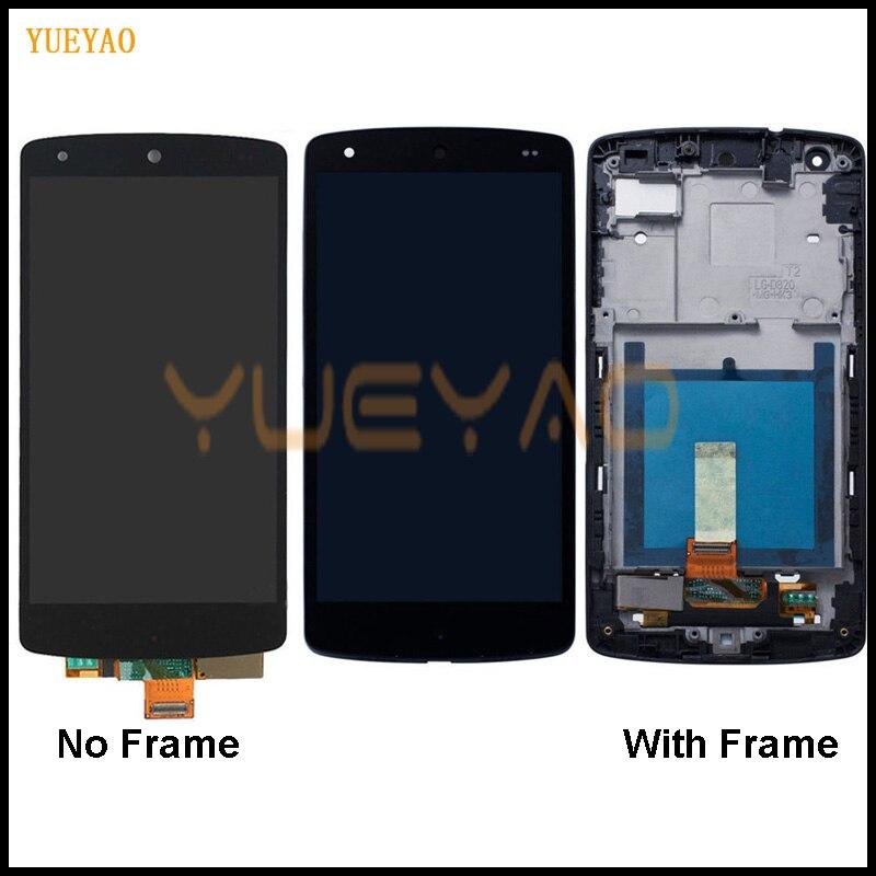 Pantalla táctil LCD de 4,95 pulgadas para LG Nexus 5 con reemplazo de marco para LG Google Nexus 5 pantalla LCD D820 D821 LCD