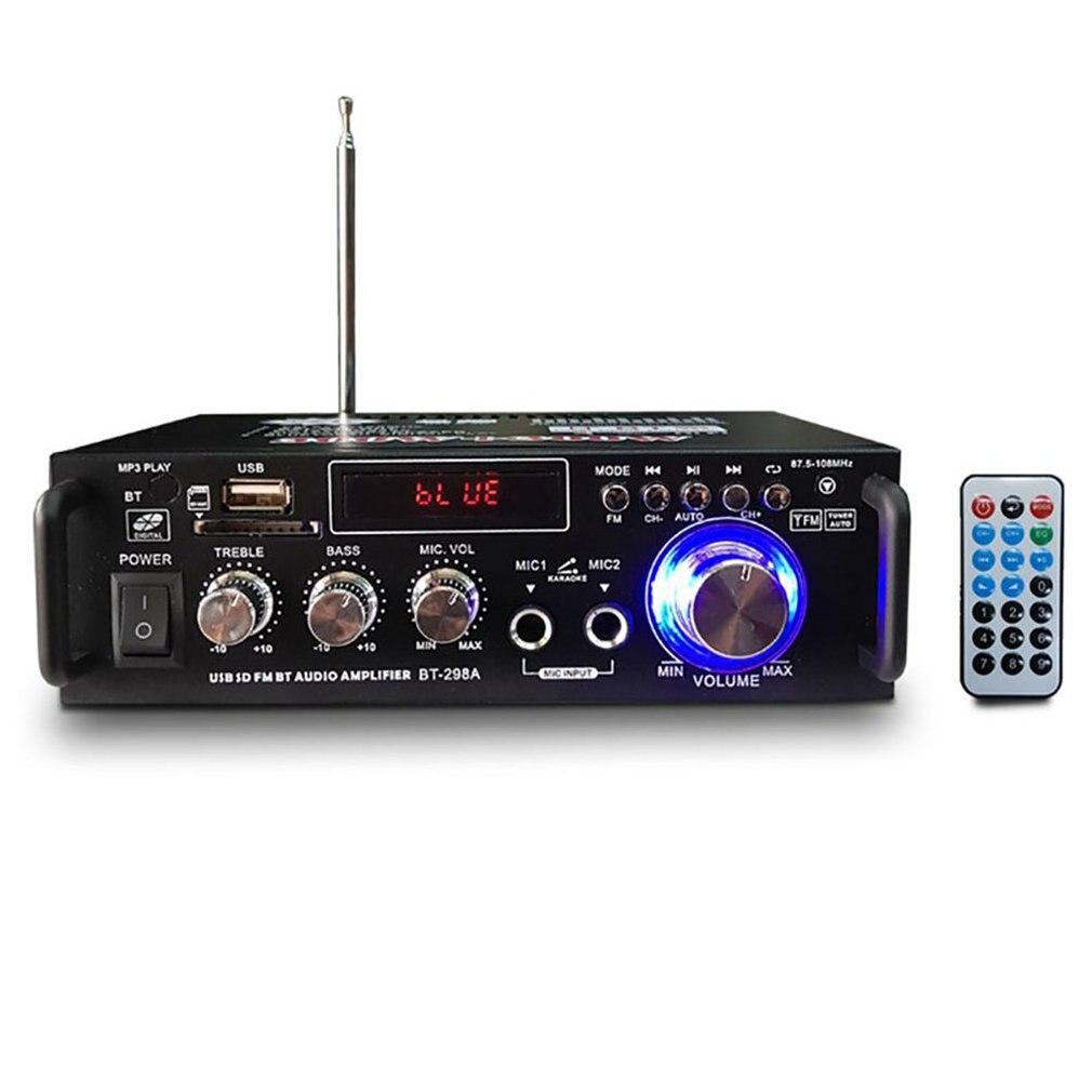 Digital de Alta Fidelidade sem Fio Estéreo Amplificador Áudio fm Mic Carro Casa Durável Pequeno Mini Potência 600w sd