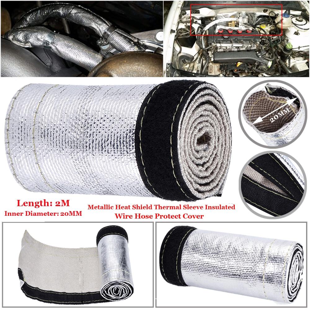 2M Hitzeschild Hülse Isolator Draht Becher Abdeckung Wrap Webstuhl Rohr Metallic Wärme Schild Thermische Isolierte Hülse Draht Abdeckung