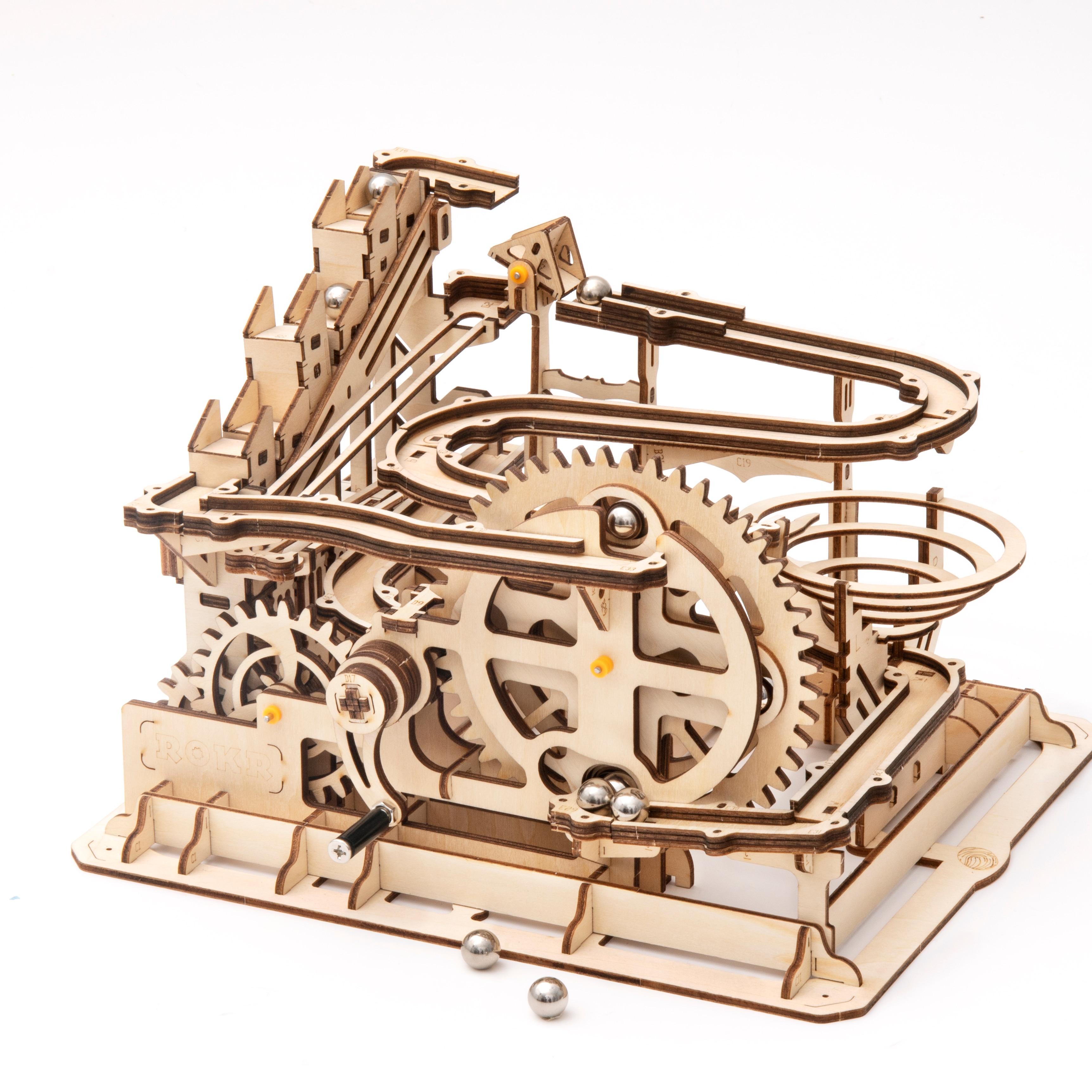 Robotime 4 أنواع DIY 3D الرخام تشغيل لعبة خشبية والعتاد محرك نموذج بناء أطقم لعبة للأطفال LG501-LG504 ل دروبشيبينغ