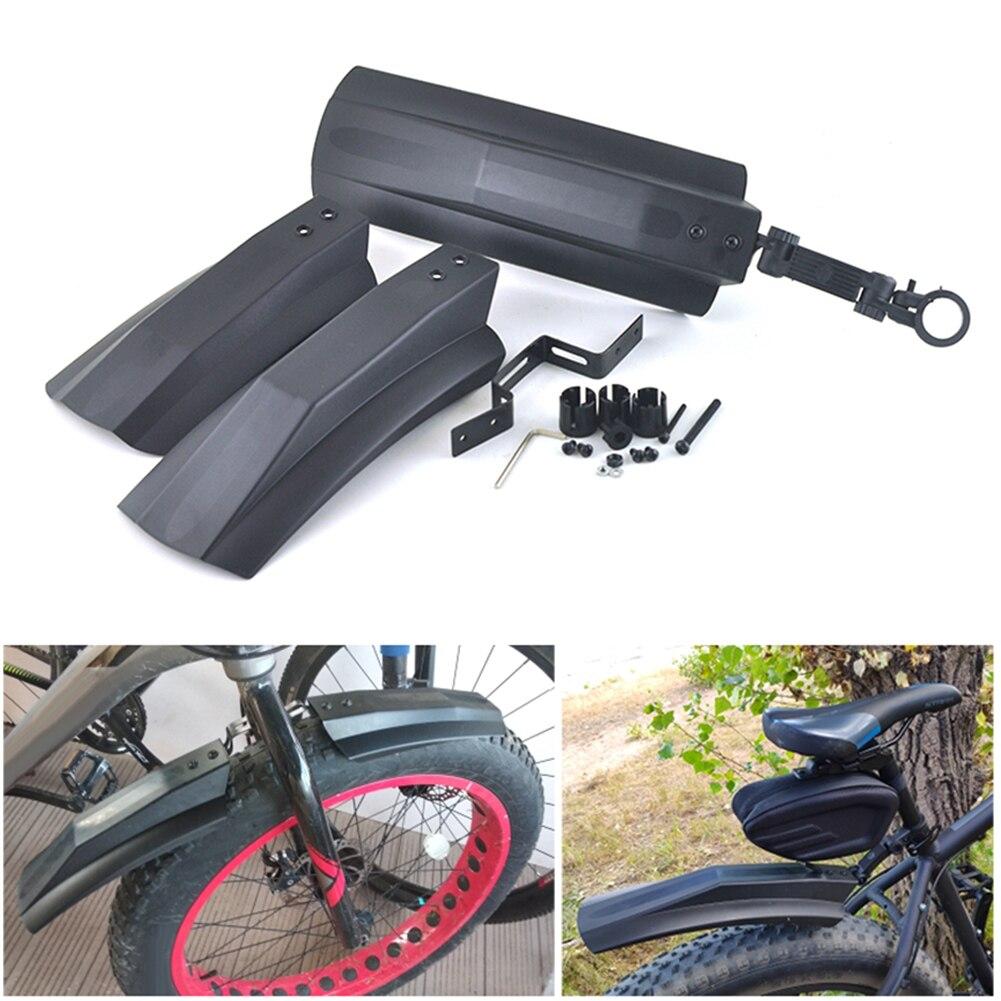 2 шт. Велосипедное защитное крыло жир велосипед крыло Передняя тыльная грязь защита для MTB велосипеды велосипедные мигающие быстросъемные к...