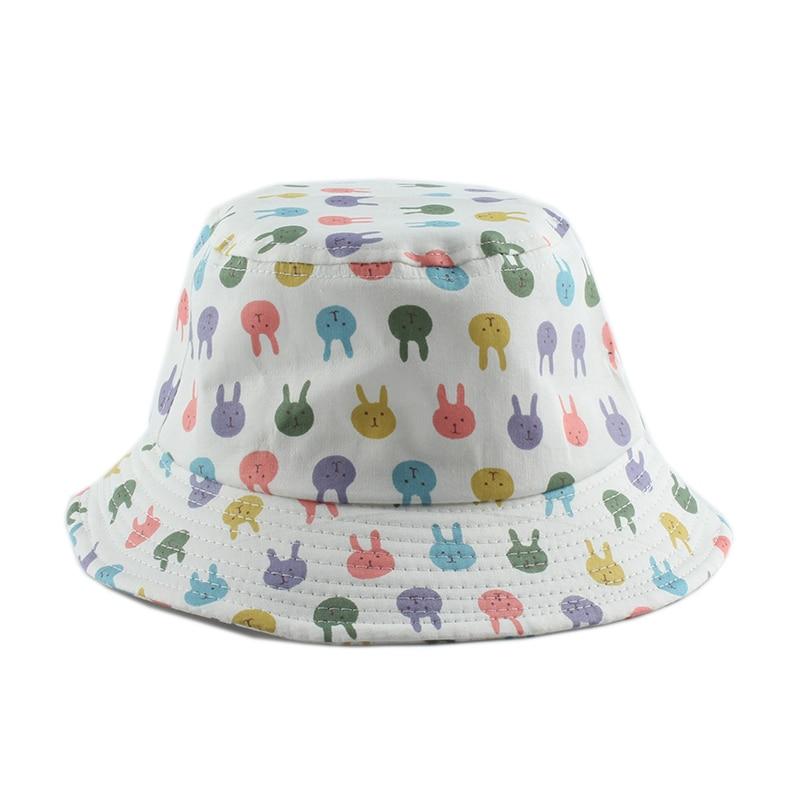 UV Protection Summer Baby Sun Hat Panama Kids Bucket Hat Cartoon Infant Toddler Cap Boys Girls Beach Hat