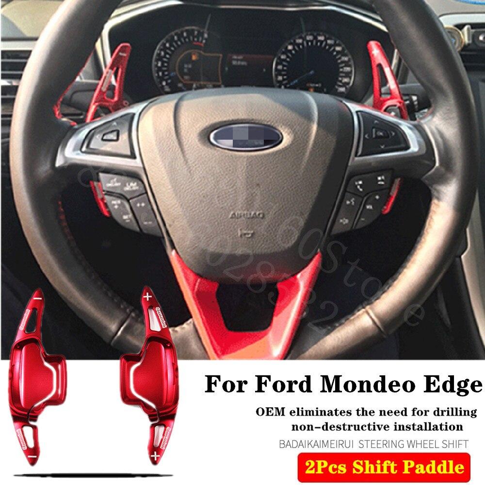 Alta calidad para Ford Mondeo Taurus Edge 2015-2020 2 uds molde Original volante de aluminio Cambio de Paddle Shift extender Shifter