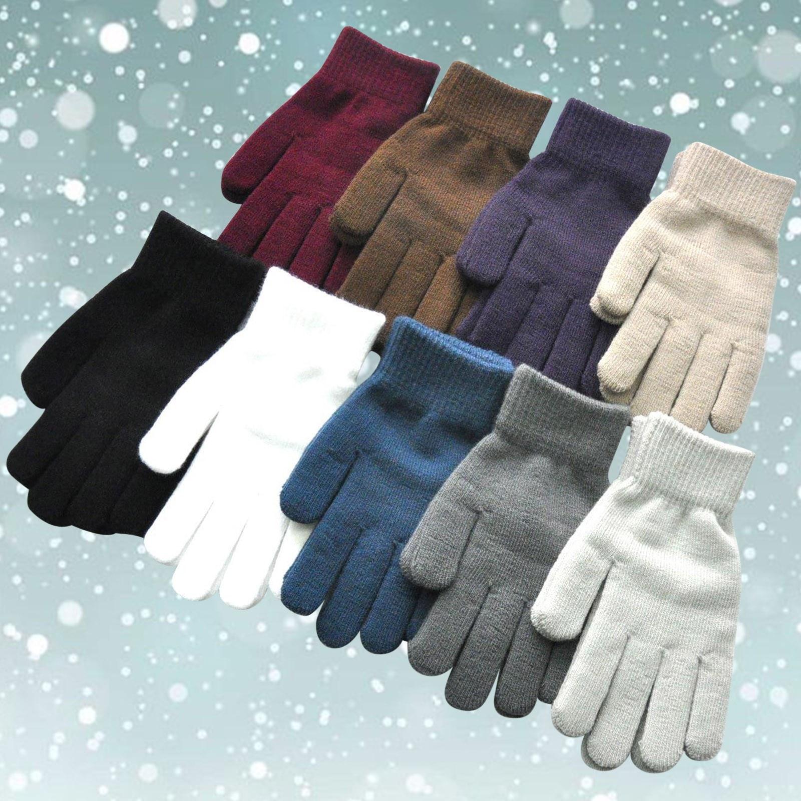 Женские варежки с пальцами, перчатки, детские зимние перчатки, теплые вязаные шерстяные перчатки, зимние теплые флисовые перчатки для верхо...