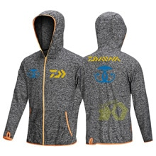 Daiwa Hoodie Breathable Fishing Shirts Long Sleeve Fishing Jerseys Men UV Protection Quick Dry Zipper Outdoor Fishing Jacket Men