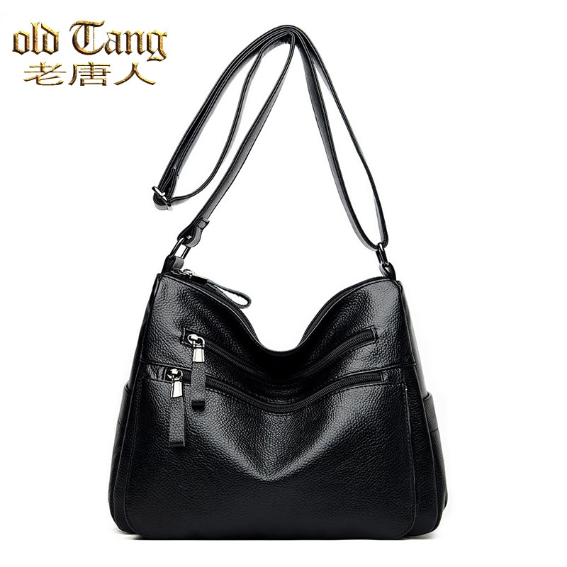OLD TANG High Quality Solid Color Leather Crossbody Bags Designer Fashion Luxury Shoulder Bags for W