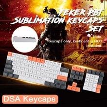 FEKER-ensemble de 61 clés à Sublimation PBT 104 touches, processus de Sublimation thermique, DSA en hauteur