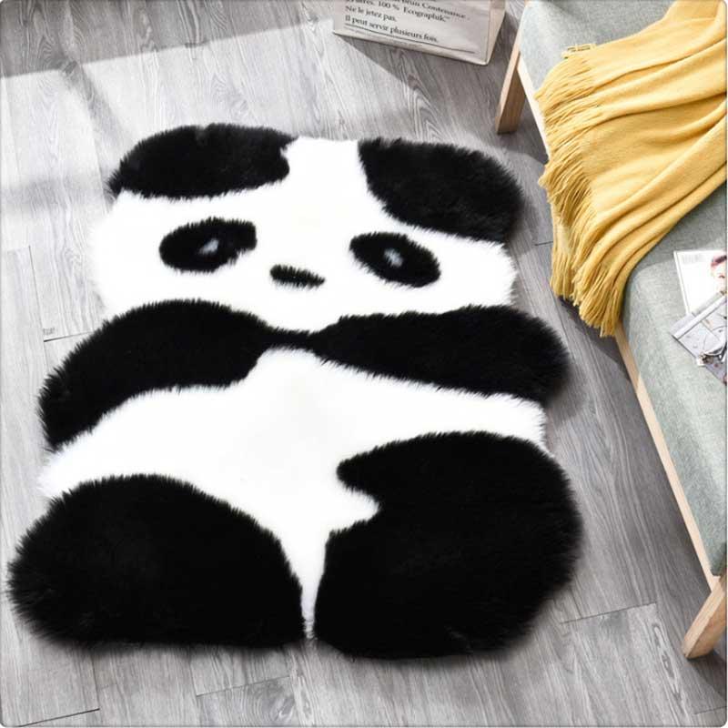 جديد تقليد الصوف السجاد موضة سجاد لطيف الكرتون الباندا البطريق السجاد المنزل أريكة طاولة تعليمية وسادة للقدم الدافئة حصيرة وسادة أرضية