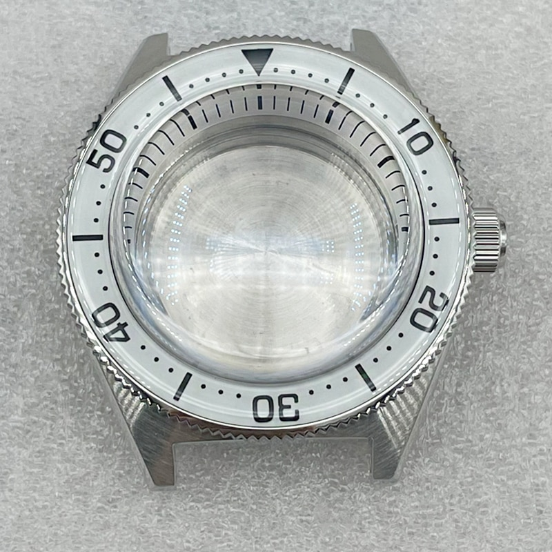 Watch Parts High Quality 62MAS Stainless Watch Case Sapphire Bubble Glass Full Luminous Sapphire Bezel Fit NH35/36 Movement