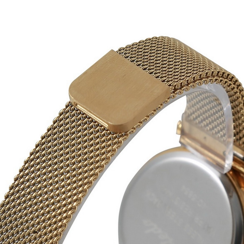 varledo Women Magnet Mesh Buckle watch Geometric Surface Quartz Ladies Fashion Women Starry Magnetic Buckle Bracelet Watches enlarge