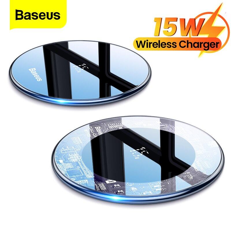 Baseus 15 واط تشى شاحن لاسلكي التعريفي سريع لاسلكي شحن الوسادة آيفون 13 12 برو ماكس Xs شاحن الهاتف لسامسونج شاومي