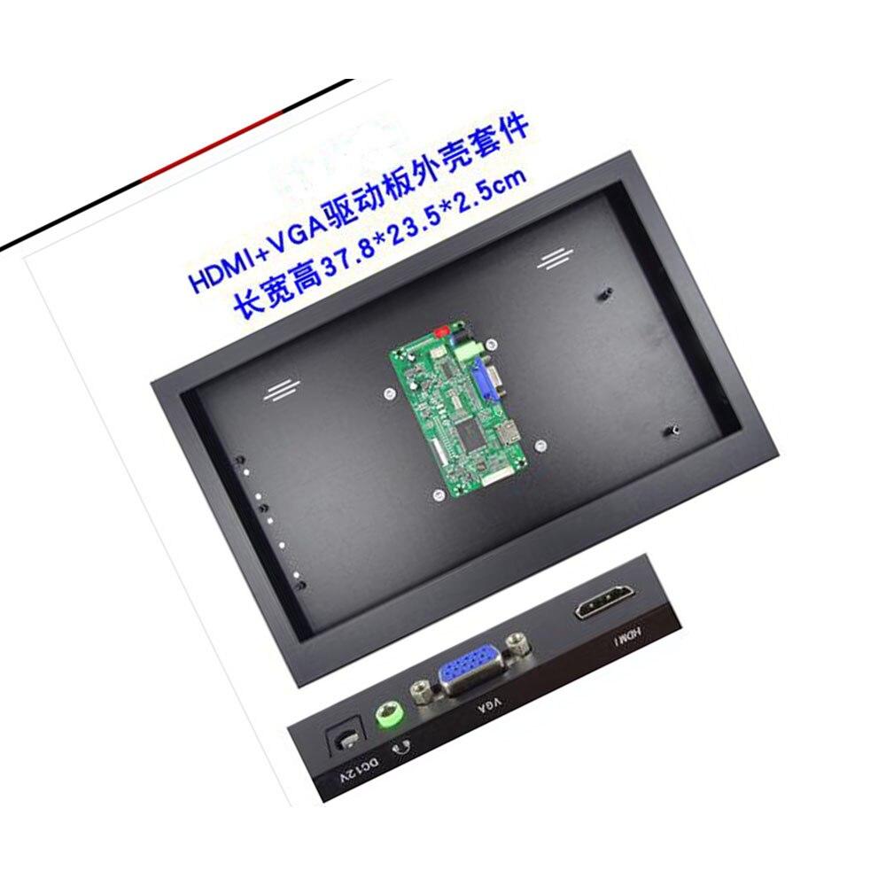 EDP تحكم مجلس VGA HDMI-متوافق عدة + سبائك معدنية علبة صندوق لتقوم بها بنفسك العالمي ل LED لوحة ال سي دي متوافق شاشة الغطاء الخلفي
