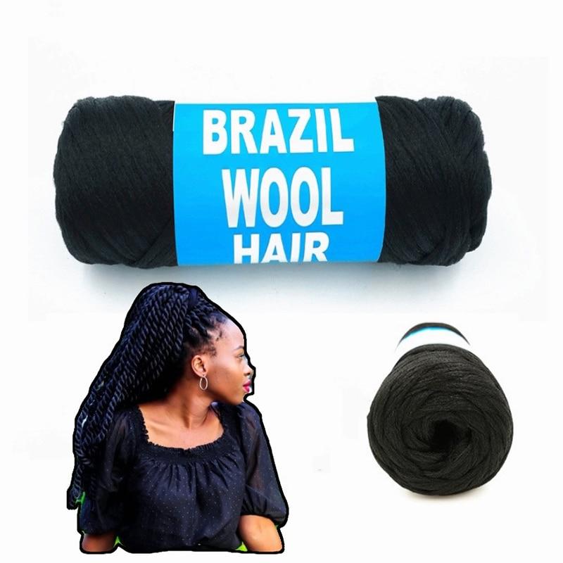 70g/ball Brazilian wool hair yarn for braiding African wig artificial senegalese twisting wig hair attachment knitting salon
