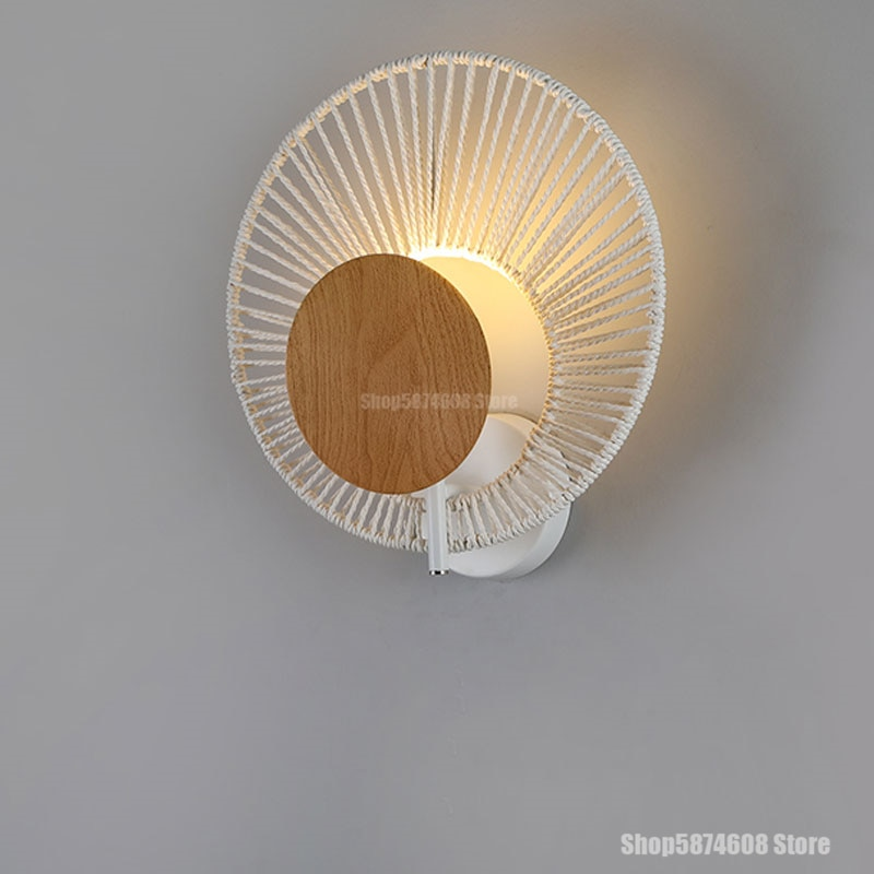 Lámpara de pared de concha de hierro de estilo moderno, lámpara de pared para dormitorio, mesita de noche, sala, pasillo, fondo, lámpara de pared, accesorios de iluminación Led