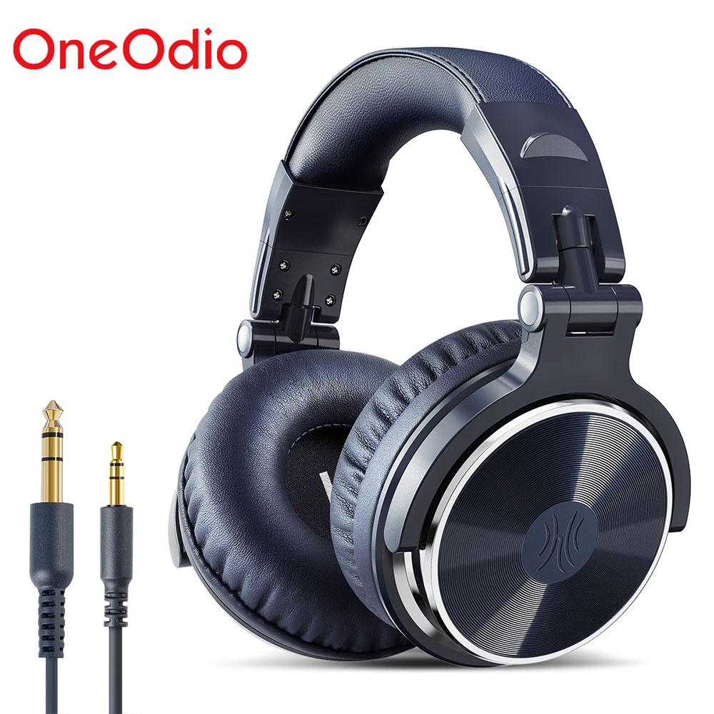 OneOdio الأصلي سماعات المهنية ستوديو ديناميكية ستيريو DJ سماعة رأس بمايكروفون سماعة رأس سلكية رصد للهاتف