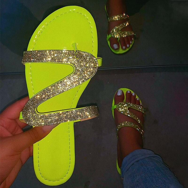 MCCKLE المرأة الصيف شقة بلينغ النعال شفافة هلام الأحذية الإناث الوجه يتخبط الصنادل الشاطئ في الهواء الطلق أحذية السيدات الشرائح