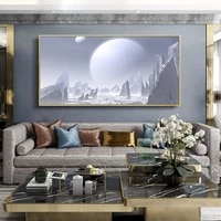 Peinture a lhuile de paysage  photographie spatiale  art  toile  peinture  salon  couloir  bar  decoration murale de la maison