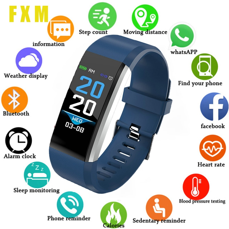 2020New Children's color touch electronic watch Running sports watch boy girl male electronic sports