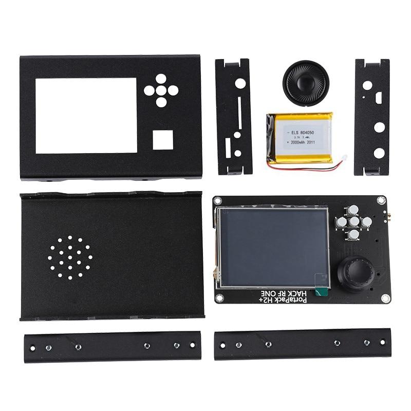PORTAPACK H2 3.2 Inch Touch LCD Display + Aluminum Case + 2000mAh Battery + Speaker For HACKRF ONE SDR tcxo clock clk ppm 0 1 tcxo clock oscillator module for hackrf one sdr aluminum shell case
