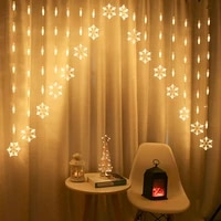 new christmas snowflake curtain fairy led light christmas decorations for home outdoor garden garland ornaments new year navidad