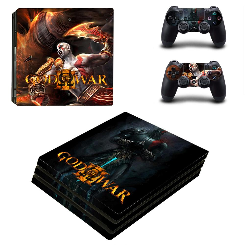 Pegatinas God of War PS4 Pro para Play station 4, pegatina de piel para PS4 PlayStation 4 Pro, fundas de consola y controlador