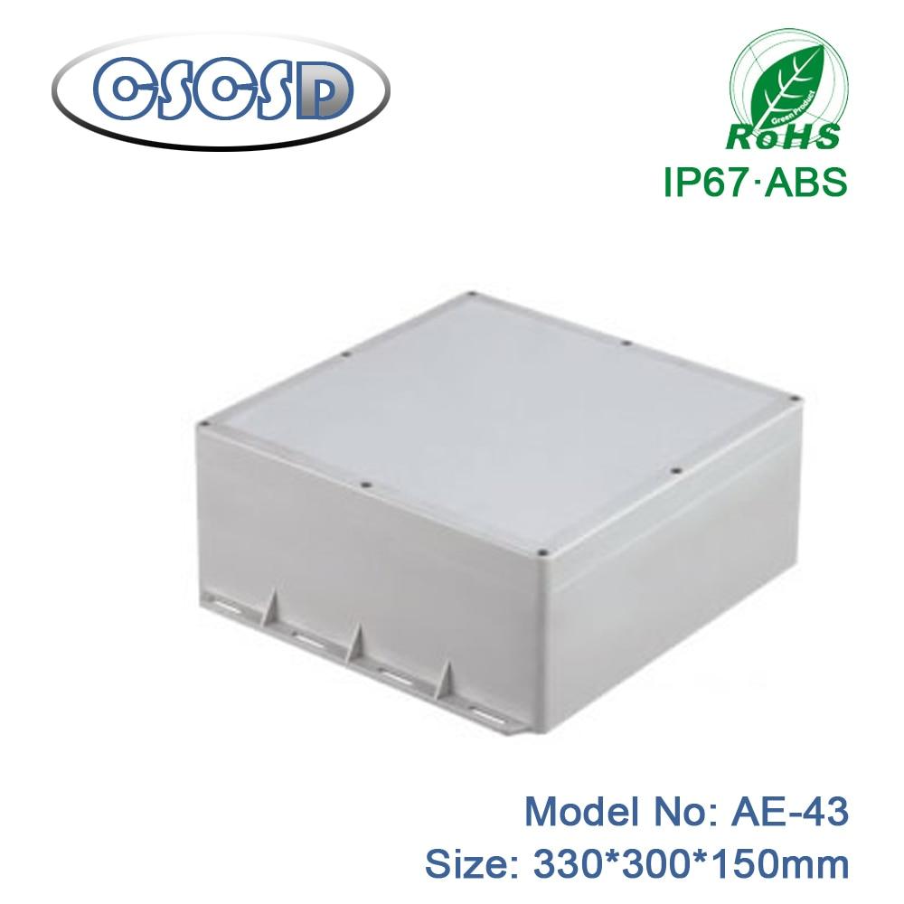 1 قطعة/الوحدة 330*300*150 مللي متر abs الضميمة ل الطبية جهاز مخصص abs سور جبل الضميمة الكهربائية كبيرة abs الضميمة