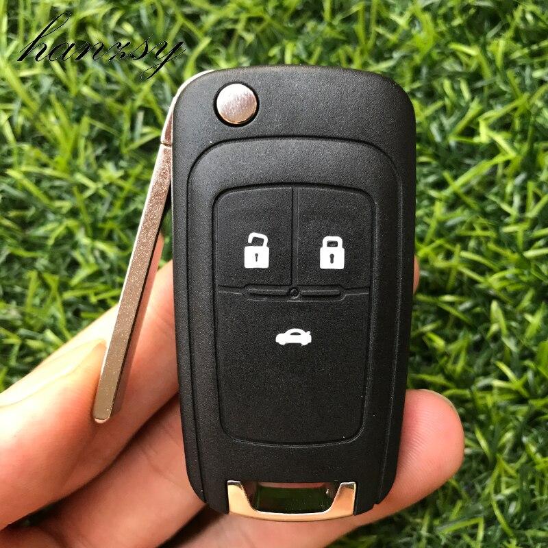Чехол с 3 кнопками и дистанционным управлением для Chevrolet Cruze 2010 2011 Aveo Epica Impala Camar, сменный раскладной чехол для ключей Fob