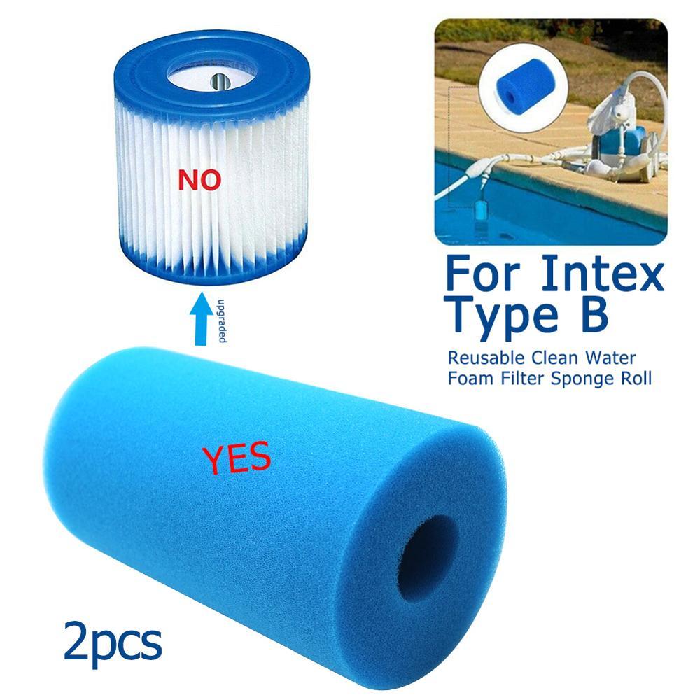 Filtro para piscina Intex, filtro de espuma para piscina, filtro de esponja...