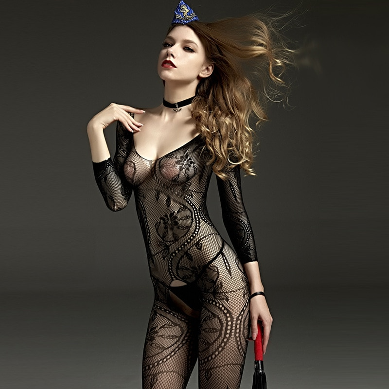 Hot Novelty & Special Use Internal Sexual Hot Porn Mesh Lace Babydoll Dress Suit Open Crotch Lingeri