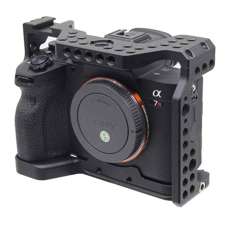 Pro A7R4 A7R IV jaula de cámara para Sony A7R Mark IV Cámara W/1/4 3/8 agujero de rosca fr manija superior micrófono Flash Aleación de luz hecha