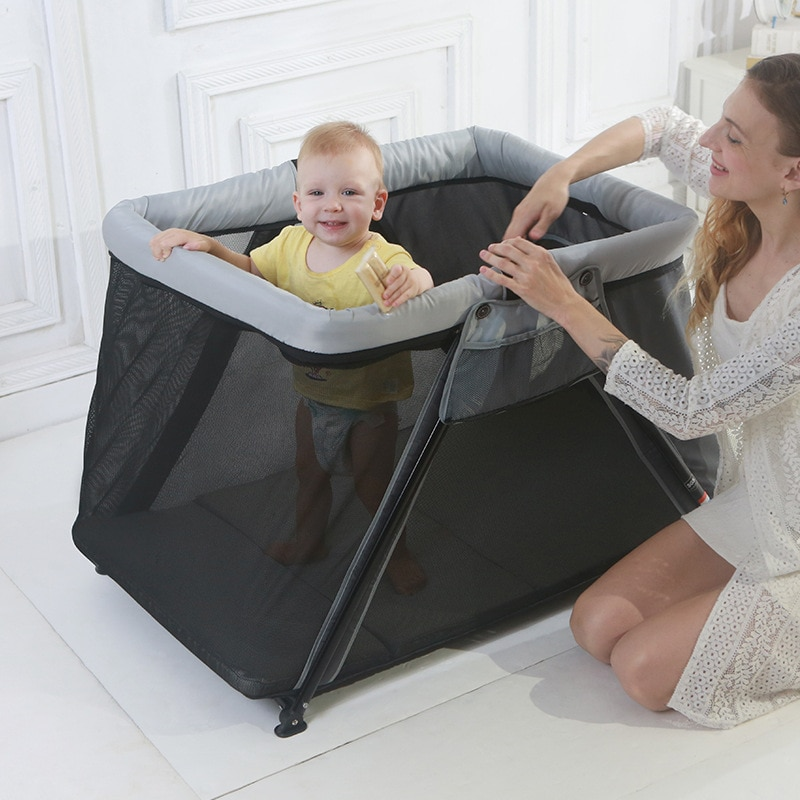Luxury Baby Crib Folding Newborn Hammock Mosquito Net Multifunctional Playpen Bed Folding Travel Cot High Quality Noble Supplies