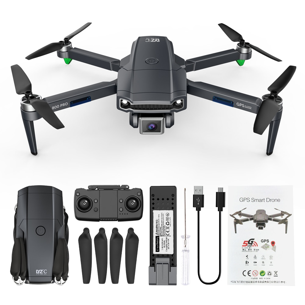 Rc Drone 6k HD Wide Angle Camera 800Pro WiFi Fpv Drone Dual Camera Quadcopter Real-time Transmission Helicopter Toys enlarge
