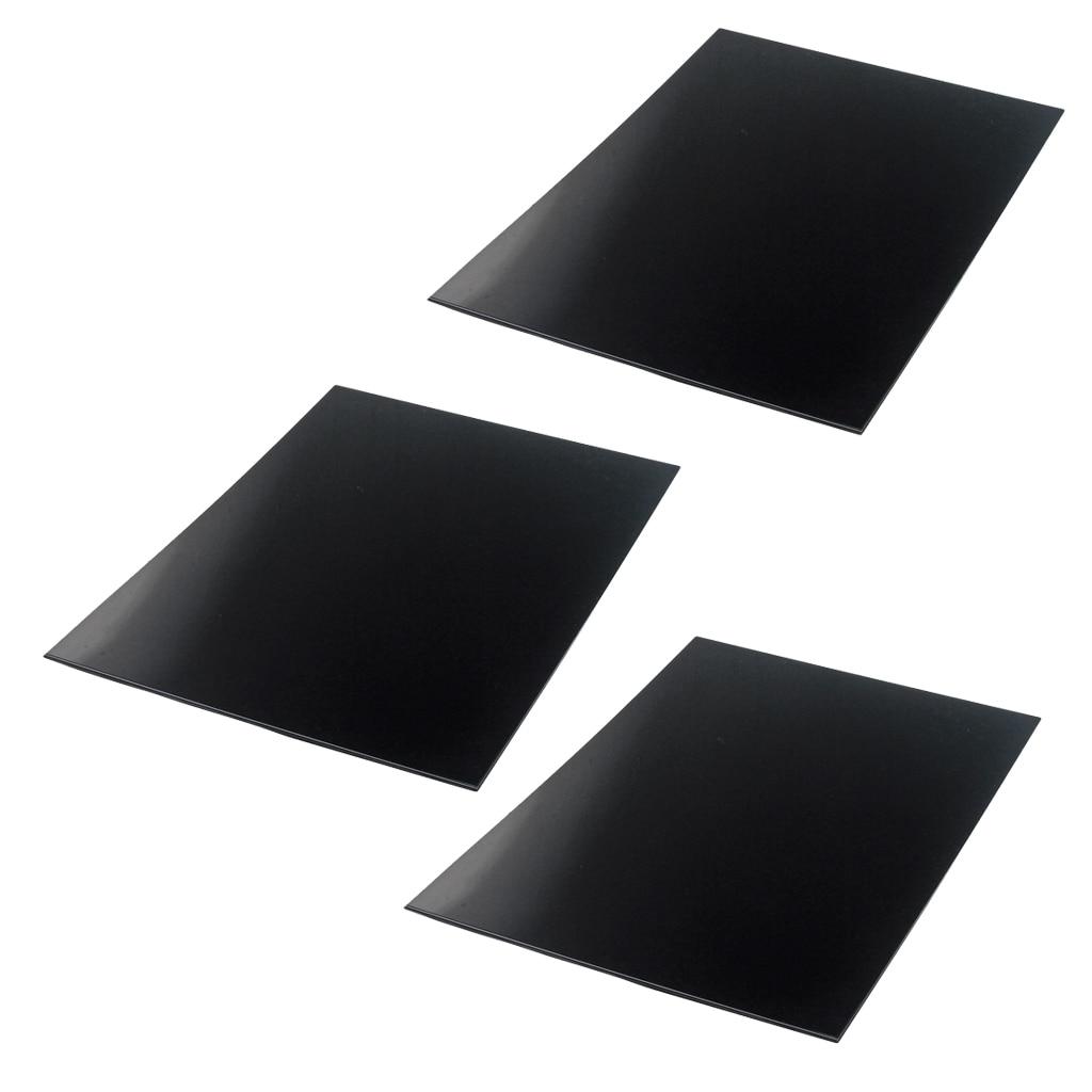 3 uds 3 capas guitarra golpeador hoja en blanco Protector de guitarra 440x290x2,2mm negro