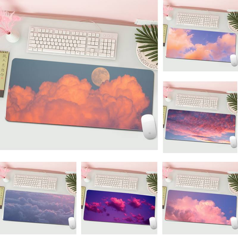 pink cloud sky DIY Design Pattern Game mousepad Gaming Mousepad XL Large Gamer Keyboard PC Desk Mat Computer Tablet Mouse Pad