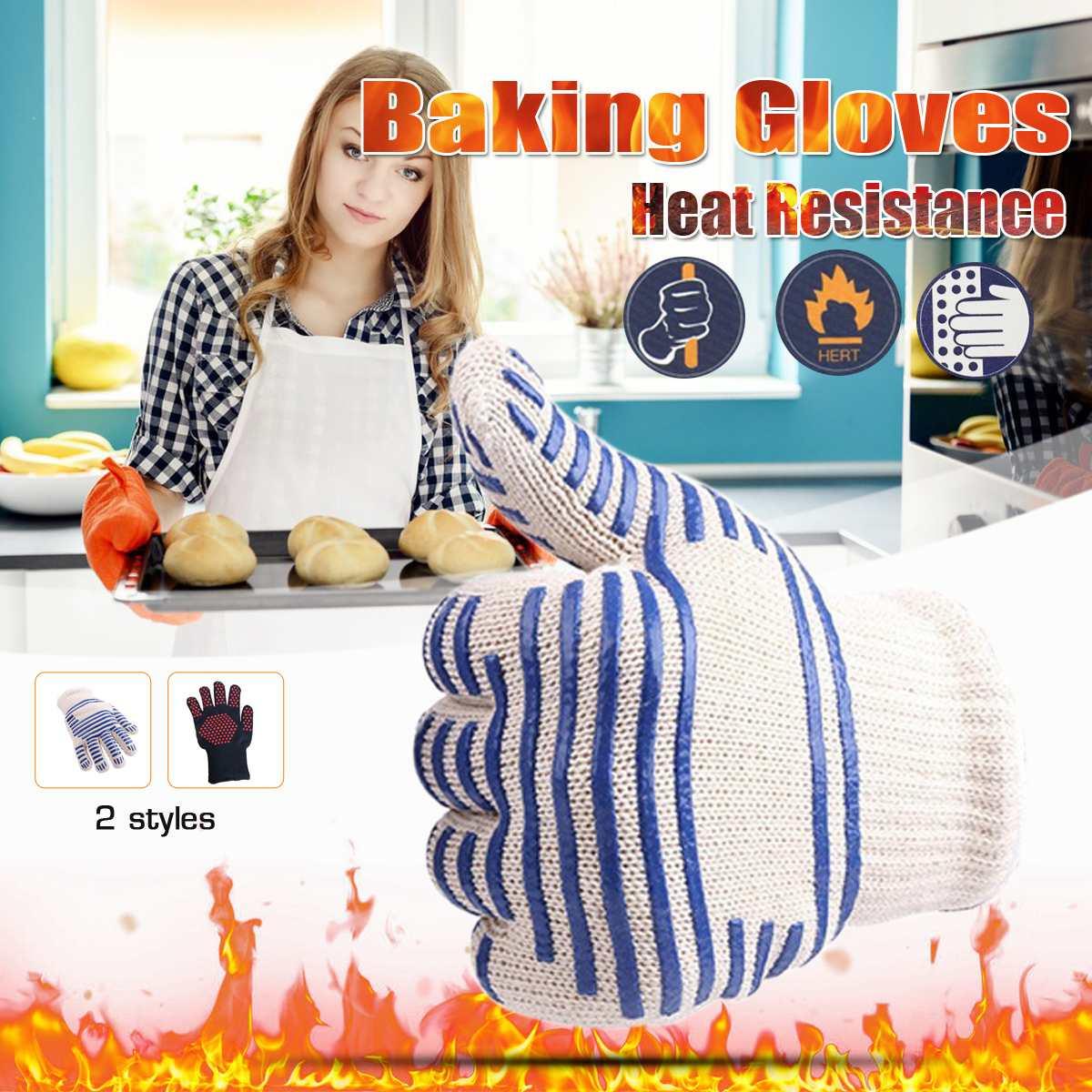 1 guante de cocina para horno, guantes para barbacoa, guantes para barbacoa, guantes resistentes al calor de cocina, guantes de cocina multiusos para asar