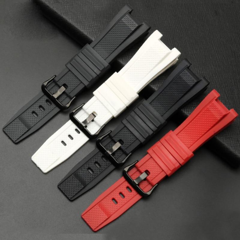 Высококачественный ремешок для наручных часов из силиконовой резины 26 мм, мужские спортивные наручные часы для casio, ремешок для наручных ча...