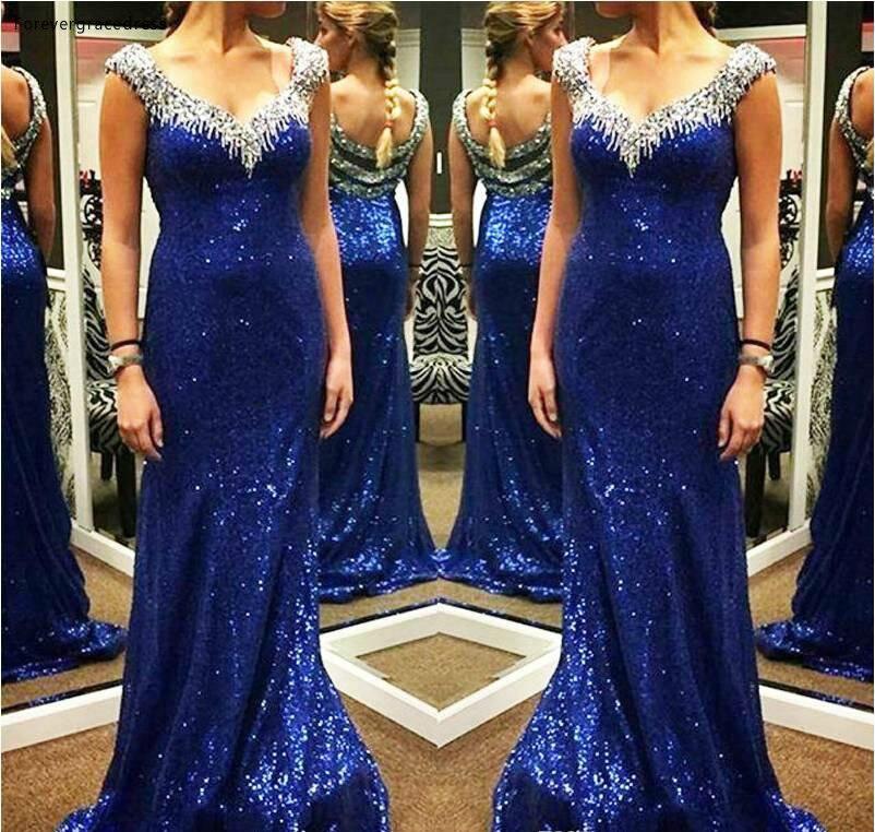 2019 Дешевое темно-синее платье для выпускного вечера с v-образным вырезом без рукавов, Длинные для ковровой дорожки, строгие праздничные платья, вечерние платья на заказ, большие размеры