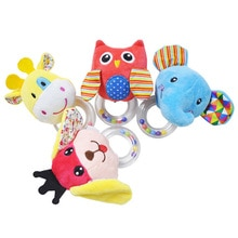 Cute Cartoon Animal Baby Rattle Toys Infant Toddler Soft Plush Mobile Educational Toys Newborn Hand