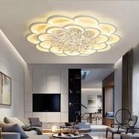 Lumiere de plafond moderne a LEDs en cristal pour salon chambre maison deco blanc acrylique plafond lustre luminaires