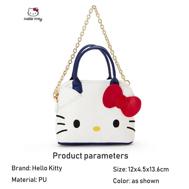 HELLO KITTY Single Crossbody Bag Handbag Ladies Cartoon Shoulder Bag Ladies Soft PU Fashion Messenger Bag Small Shoulder Bag