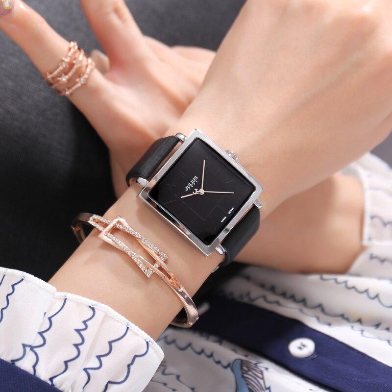 Hot البيع الموضة العصرية الطلب الكبير مربع حزام من الجلد كوارتز ساعة عالية الجودة ساعة النساء الساعات الرجال للجنسين فتاة وقت بسيط