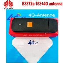 Débloqué dorigine HUAWEI E3372 E3372S-153 4G LTE Modem 150Mpbs avec 4G crc9 35DBI double antenne