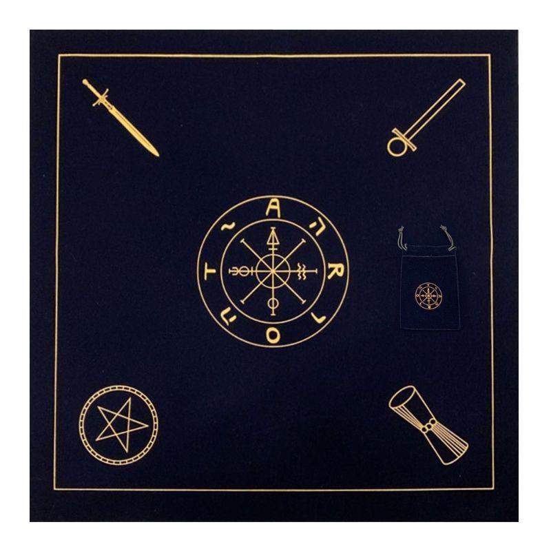 Mantel de cartas de Tarot de terciopelo de tela de alar con bolsa, accesorios para juegos de mesa, venta al por mayor, Dropshipping